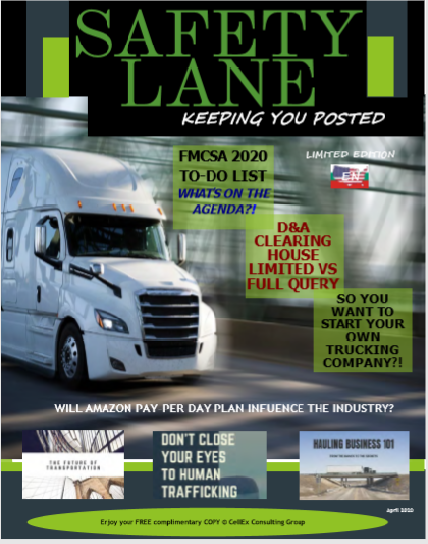 Safety Lane Magazine - English Version for April, 2020